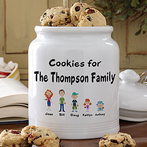Family Cookie Jar from Personalization Mall