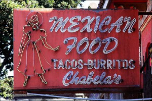 Mexican Food Sign