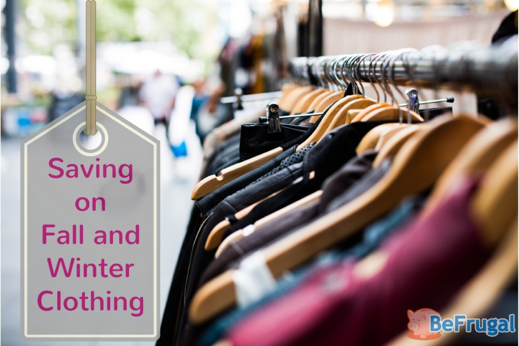 Saving Money on Fall and Winter Clothing
