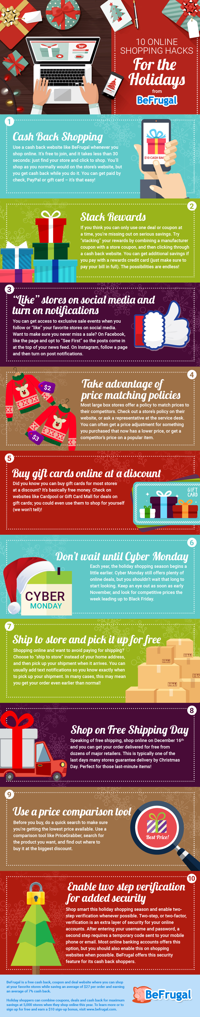 Holiday Shopping Hacks Infographic
