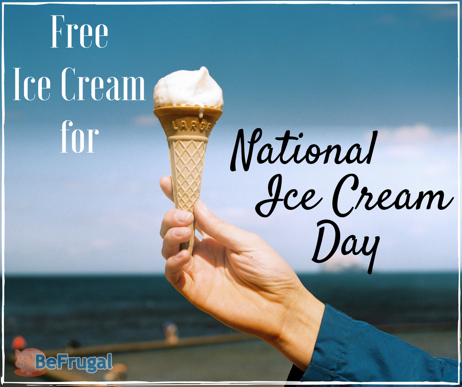 Free Ice Cream for National Ice Cream Day